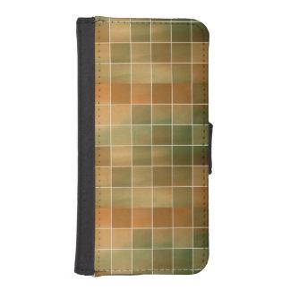 Autumn tiles iPhone SE/5/5s wallet case
