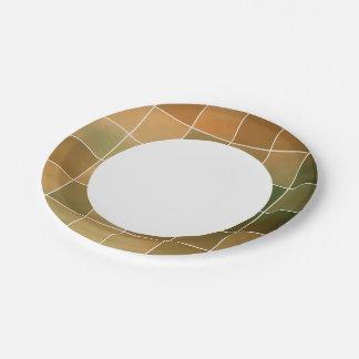 Autumn tiles paper plate