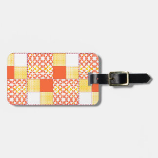 Autumn Tints Quilt Block Oattern Luggage Tag