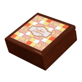 Autumn Tints Quilt Pattern Block Gift Box
