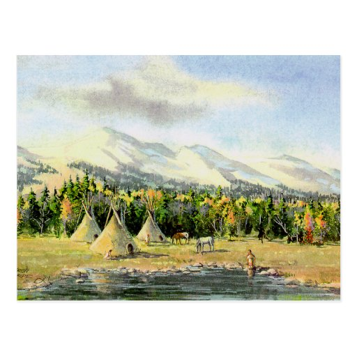AUTUMN TIPIS by SHARON SHARPE Post Card