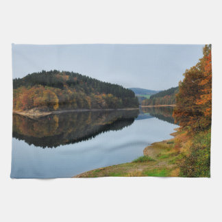 Autumn to the Aggertalsperre Tea Towel