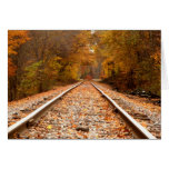 Autumn Tracks notecard Note Card