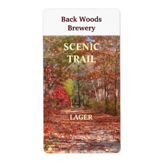 Autumn Trail ~ Beer Wine Label Shipping Label