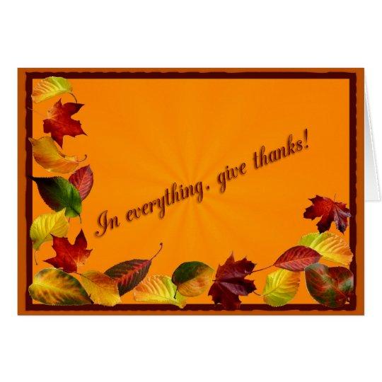 Autumn trail card