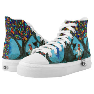 Autumn Treasures High Top Shoes Printed Shoes