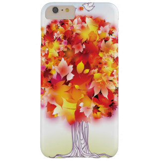 Autumn Tree And Cute Birds In Love Barely There iPhone 6 Plus Case