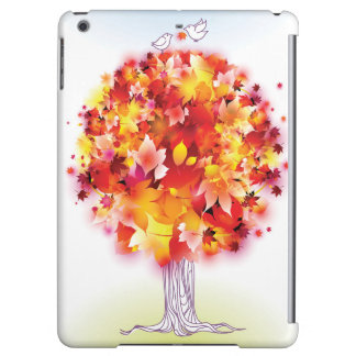 Autumn Tree And Cute Birds In Love Case For iPad Air