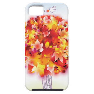 Autumn Tree And Cute Birds In Love Tough iPhone 5 Case