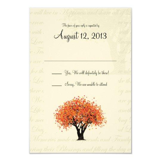 Autumn Tree Dancing Blooms Response Card