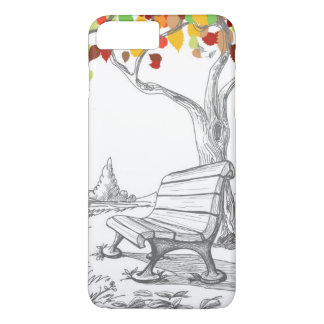 Autumn Tree, Falling Leaves iPhone 8 Plus/7 Plus Case