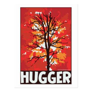 Autumn, Tree Hugger Postcard