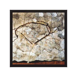 Autumn Tree in Movement by Egon Schiele Stretched Canvas Print