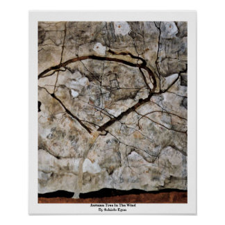 Autumn Tree In The Wind By Schiele Egon Poster