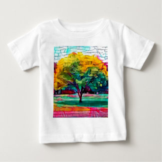 Autumn tree in vivid colors baby T-Shirt