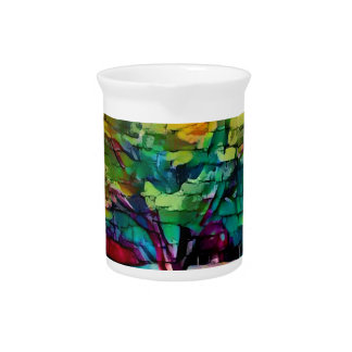 Autumn tree in vivid colors beverage pitchers