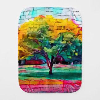 Autumn tree in vivid colors burp cloth