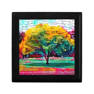 Autumn tree in vivid colors gift box