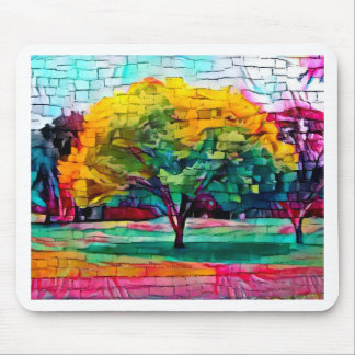 Autumn tree in vivid colors mouse mat