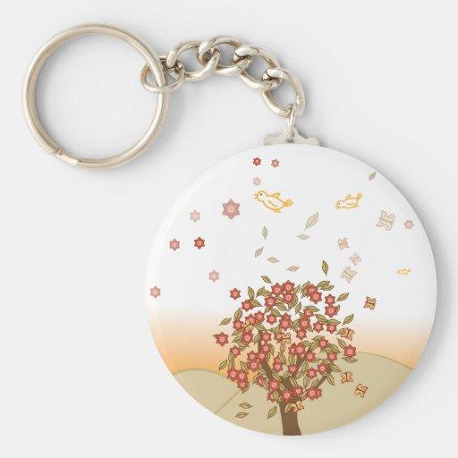 Autumn Tree Key Chains
