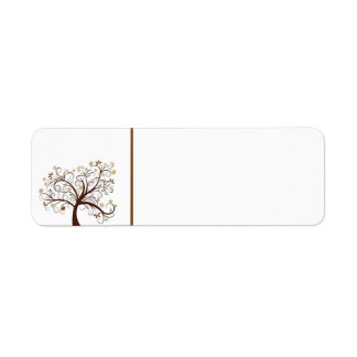 Autumn Tree Label Return Address Label
