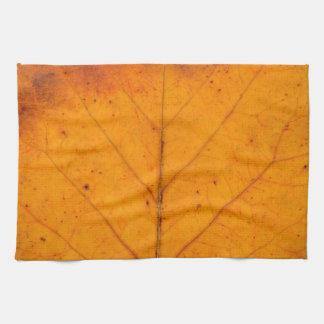 autumn tree leaf texture pattern background nature tea towel