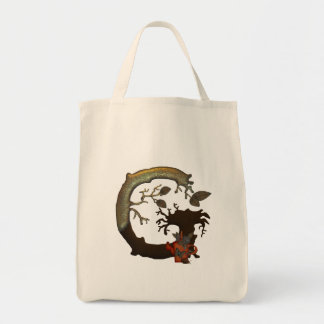Autumn Tree Monogram G Grocery Tote Bag