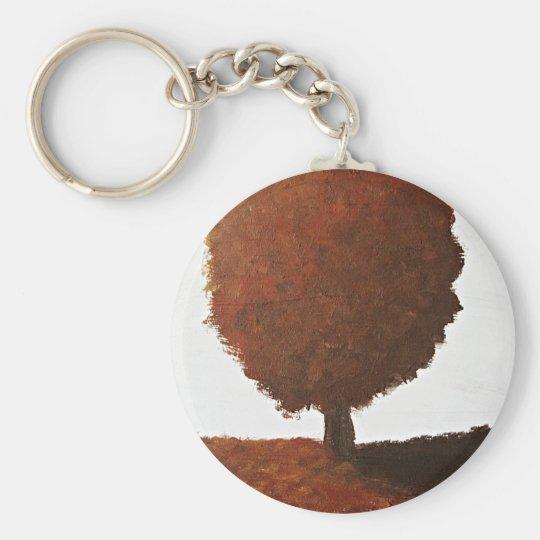 Autumn Tree Painting Key Ring