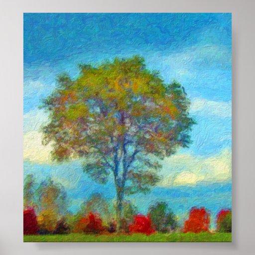 Autumn Tree Painting Poster