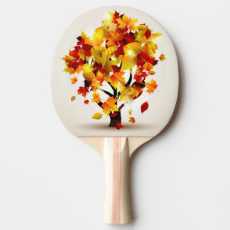 Autumn Tree Ping Pong Paddle