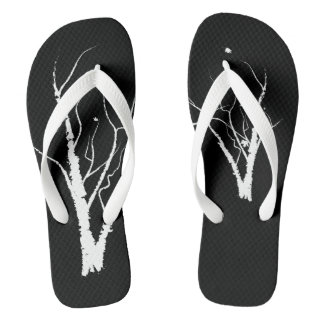 Autumn Tree Sandals Black and White