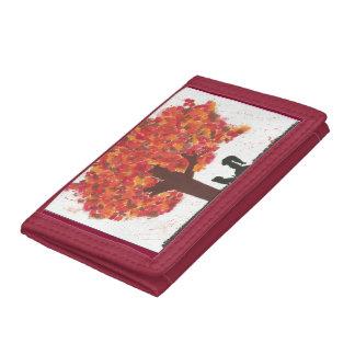 Autumn tree tri-fold wallets