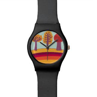 Autumn Trees And Bird Watch
