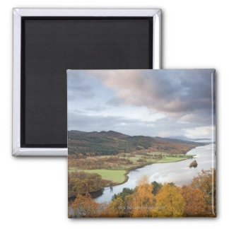 Autumn trees and Loch Faskally, Pitlochry Square Magnet