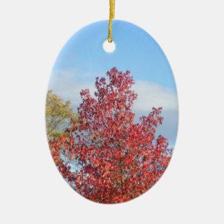 Autumn trees christmas ornament