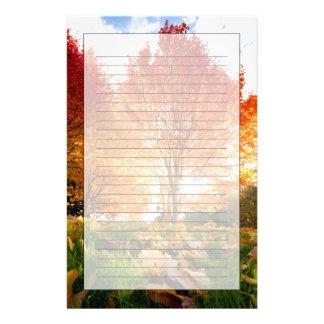 Autumn Trees Custom Stationery