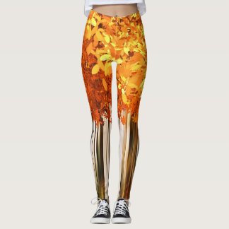 Autumn Trees Fall Colors Abstract Leggings