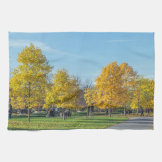 Autumn trees kitchen towel