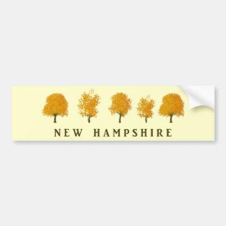 Autumn Trees - NH Bumper Sticker