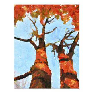 Autumn trees painting 21.5 cm x 28 cm flyer