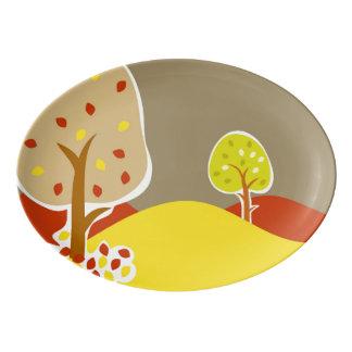 Autumn Trees Porcelain Serving Platter