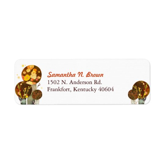 Autumn Trees Simple Address Labels