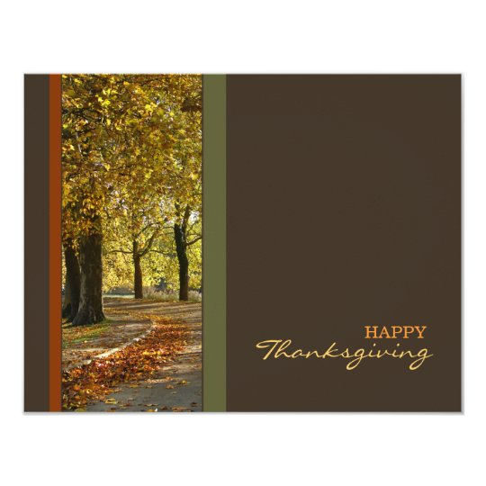 Autumn Trees Thanksgiving invitation
