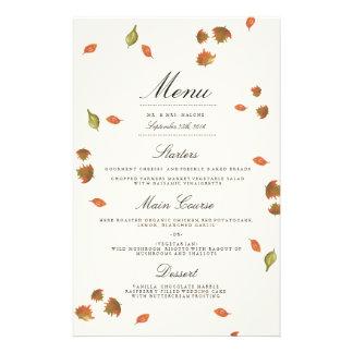 Autumn Trees Wedding Menu 14 Cm X 21.5 Cm Flyer