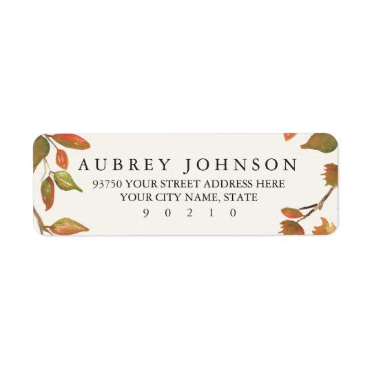 Autumn Trees Wedding Return Address Label