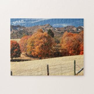 Autumn Utah, Wasatch Mountains Jigsaw Puzzle