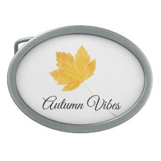 Autumn vibes oval belt buckles