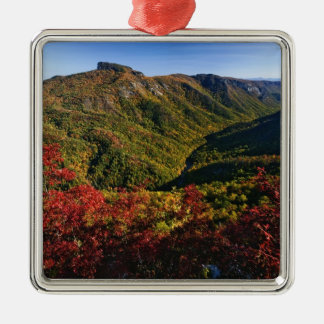 Autumn view of Linville Gorge often called the Christmas Ornament