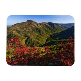 Autumn view of Linville Gorge often called the Rectangular Photo Magnet