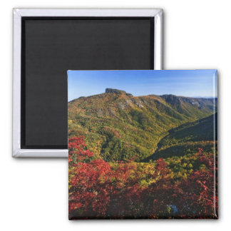 Autumn view of Linville Gorge often called the Square Magnet